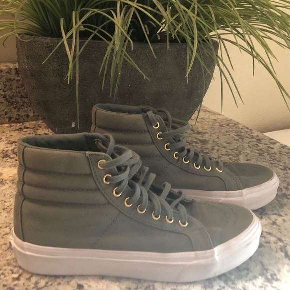 Vans Shoes | Size 60 In Womengreen High